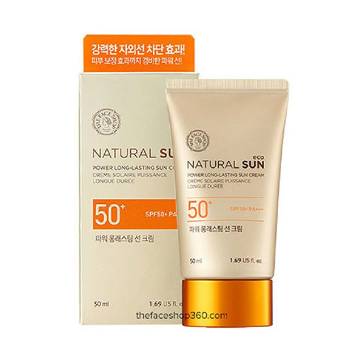 Kem Chống Nắng Natural Sun Eco Power Long Lasting Sun Cream SPF50 Plus PA