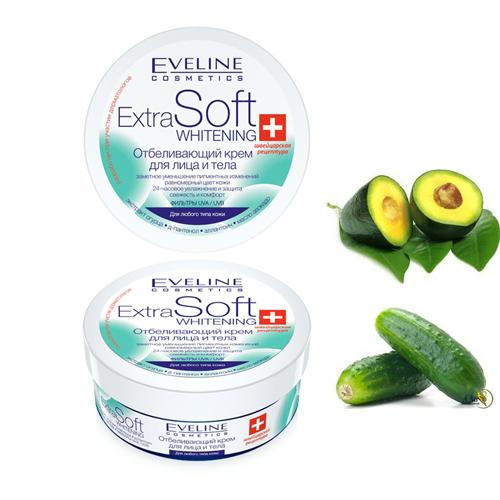 Kem Dưỡng Trắng Da Mặt Và Body Chiết Xuất Thiên Nhiên Eveline Extra Soft Whitening