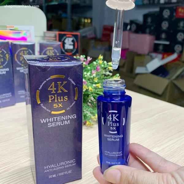 Serum 4K Plus 5X Whitening Thái Lan Dưỡng ẩm cho da, Chống nếp nhăn, giảm tàn nhang