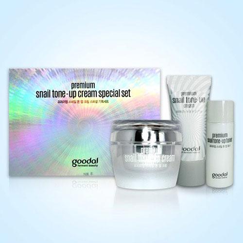 Set Dưỡng Trắng Da Chiết Xuất Ốc Sên Goodal Premium Snail Tone Up Cream Special