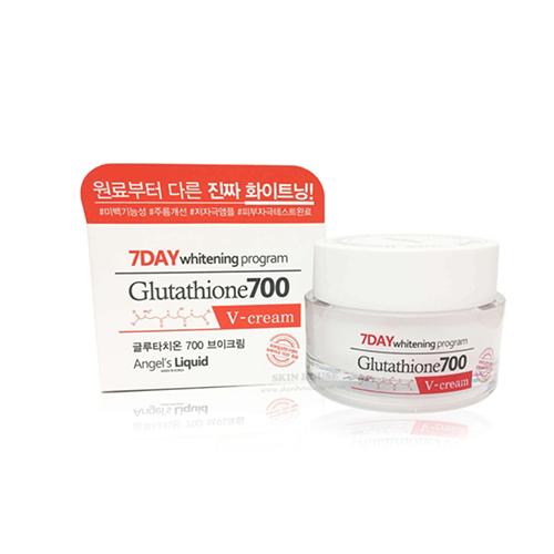 Kem Trắng Da 7Day Whitening Program Glutathione 700 V-Cream