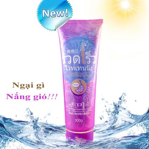Kem Dưỡng Trắng Makeup Body Tím Faylacis Fast Whitening Thái Lan