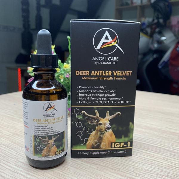 Tinh Chất Lộc Nhung Angel Care Deer Antler Velvet tăng cường gân tráng cốt, giảm đau khớp lưng, vai